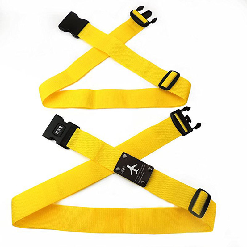 Detachable Cross Travel Luggage Strap Packing Belts Suitcase Bag Security Straps With Lock OH66