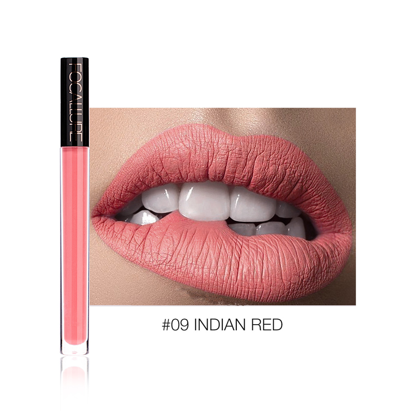 FOCALLURE Liquid Lipstick Makeup Matte Lip Tint Sexy Pigment Waterproof  Batom Tint Nude Gloss Kiss-proof Lips Make up Lipstick