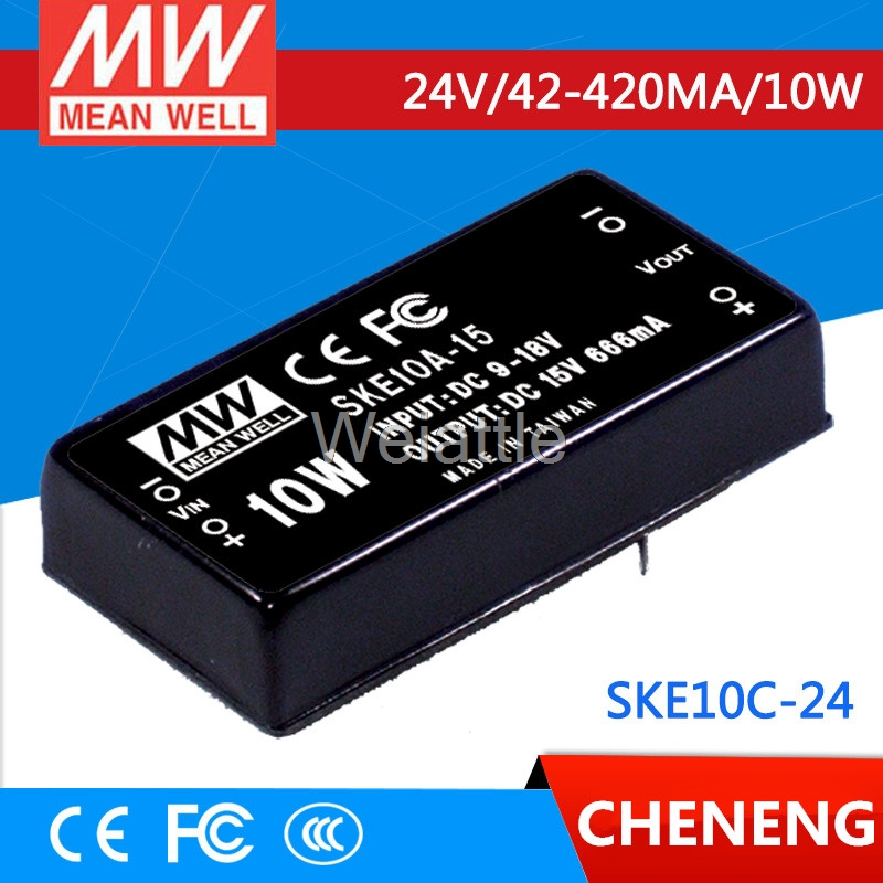 MEAN WELL original SKE10C-24 24V 420mA meanwell SKE10 24V 10W DC-DC Regulated Single Output Converter