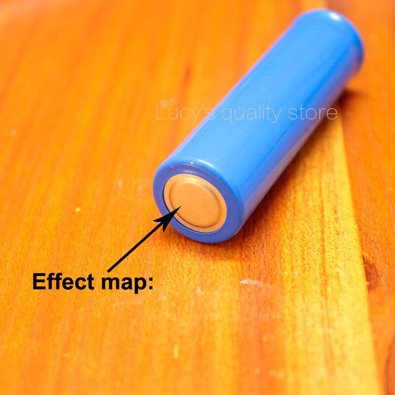 Купить с кэшбэком 100pcs/lot 18650 Battery Negative Cap Spot Welding Small Negatives Battery Negative Spot Welding Pads Tab Battery Accessories