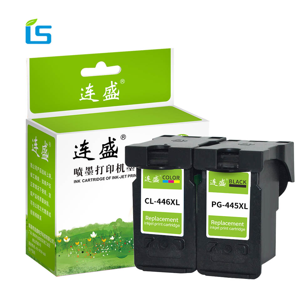 2Pcs/set PG 445 PG445 CL446 Refilled Ink Cartridge Replacement PG-445 CL-446 for Canon PIXMA MX494 MG2440 MG2540 MG2940 IP2840 pg 445 cl 446 cartridge pg 445 cl 446 ink cartridge for canon pg445 for canon pixma ip2840 mg2440 mg2540 mg2940 mx494 printer