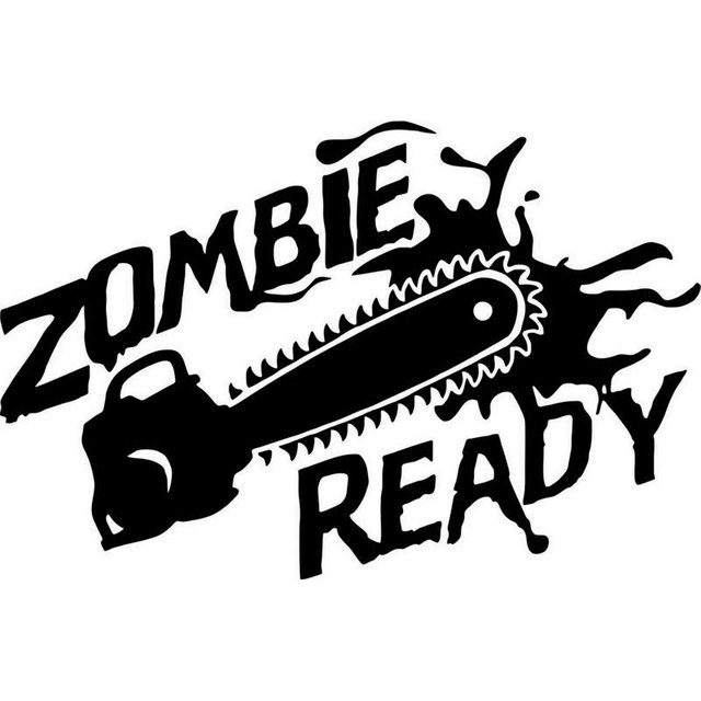 16cm10 5cm zombie hunter walking dead monster vinyl decal sticker car sticker car motorcycle