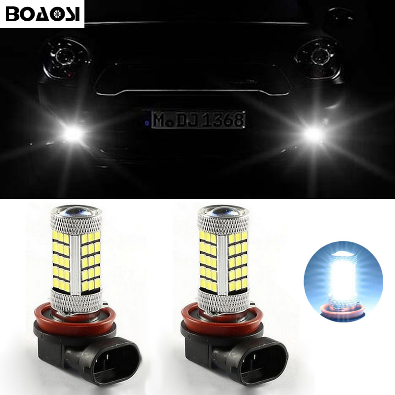 BOAOSI 2x Super White 9006/HB4 CREE Chip 2835SMD LED Fog Light Driving Bulbs For Mercedes Benz CLK AMG 2004-2017 boaosi 1x 9006 hb4 led canbus bulbs reflector mirror design for fog light no error for lexus gs300 ls430 is200 rx300 old regal