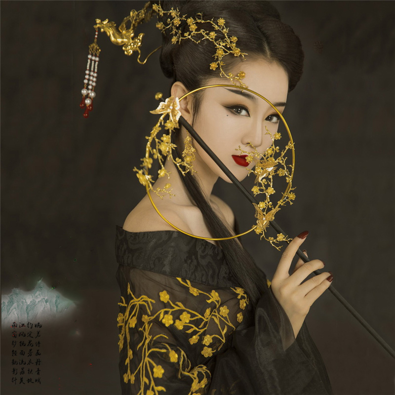 Jin Ping Mei Women s Hanfu Black Gold Plum Sexy Costume Photo House Thematic Photography Costume