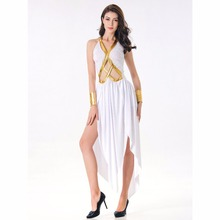 Umorden Sexy White Greek Goddess Cosplay Costume Hollow Fancy Dress Disfrace for Women Carnival Party Halloween Costumes