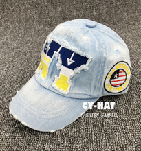 Hotsale NY Embroidered Denim Baseball Cap Children Sports Caps Pupils Hats Boy Girls Casual Baseball Hats Peaked cap