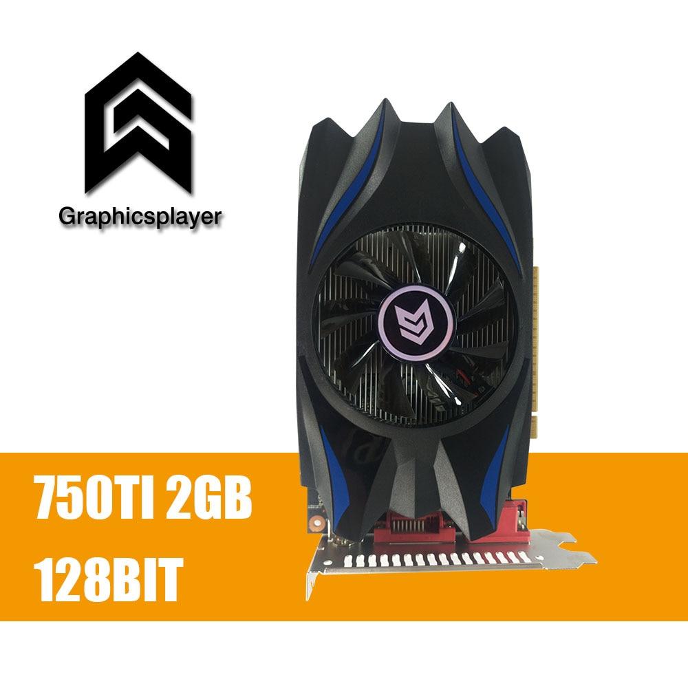 Graphics Card GTX 750TI 2048MB/2GB 128bit GDDR5 Placa de Video carte graphique Video Card for Geforce GTX PC VGA original graphics card gtx 750ti 2048mb 2gb 128bit gddr5 placa de video carte graphique video card for nvidia geforce pc vga