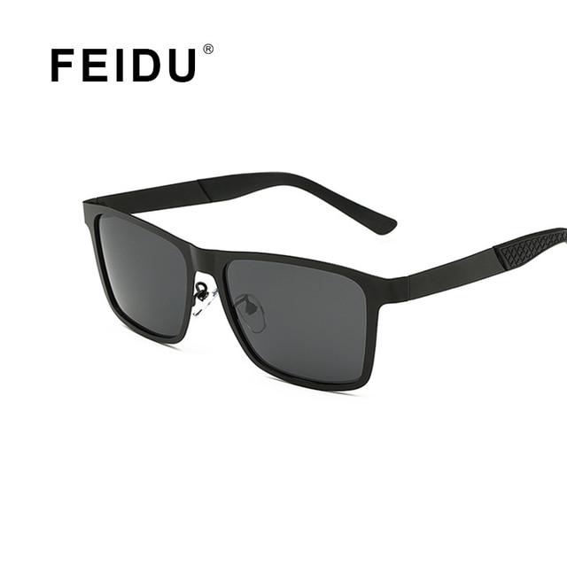 4bed68f9e8f8 FEIDU New Arrival Polarized Fashion Square Sunglasses Men Brand Designer  Alloy Frame Driving Sun glasses Men