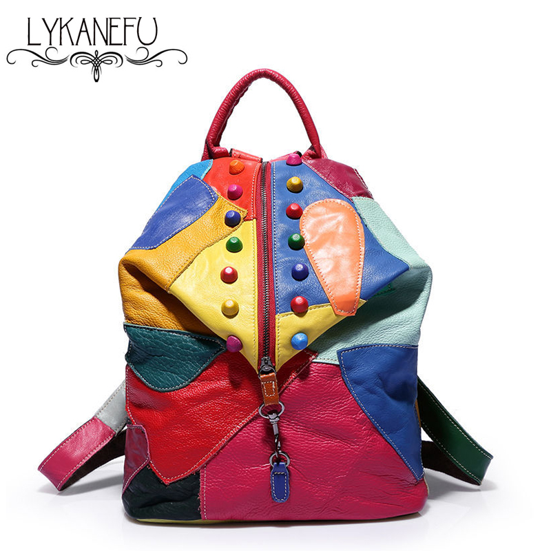 Model Women Leather Backpacks School Bag Student Backpack Ladies Women Bags