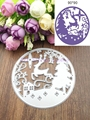 Brand DIY Christmas Cut Scrapbooking Albums Paper Hollow Forest Deer Set Cutting New Decorative Crafts Dies Cutter 04