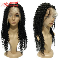 Али удивительные волосы 350% плотность Бразильский бесклеевой кудрявый парик Remy человеческих волос Кружева передние парики с волосами младе