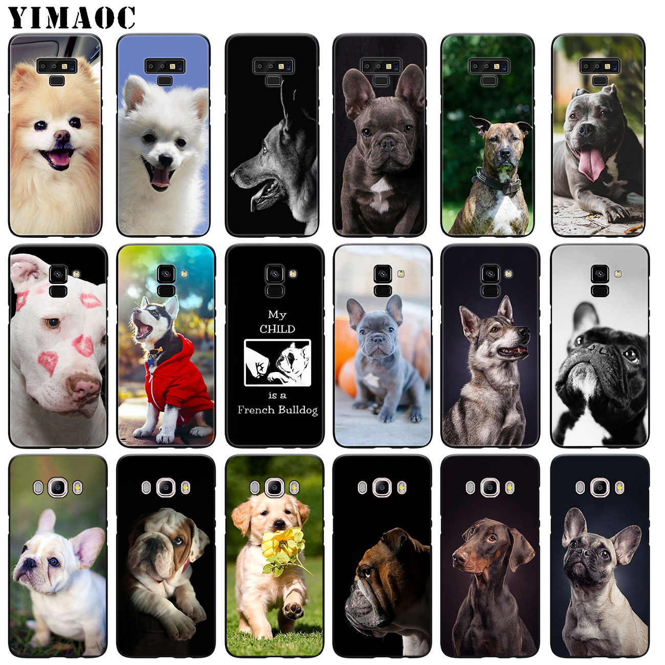 YIMAOC Bulldog pug Puppies <font><b>dog</b></font> Soft Silicone <font><b>Phone</b></font> <font><b>Case</b></font> for <font><b>Samsung</b></font> <font><b>Galaxy</b></font> A6 Plus A9 A8 A7 2018 <font><b>A3</b></font> A5 2016 <font><b>2017</b></font> Note 9 8 Cover image