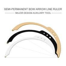 Nova semi permanente microblading linha de mapeamento marca arco seta tatuagem régua sobrancelha posicionamento medição estêncil régua ferramenta de maquiagem