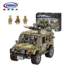 Military Series Crosses The Battlefield Ryan Jeep Model Building Blocks Car Series Bricks Toys For Kids Educational Kid(China)