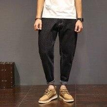 Черные джинсы мужские байкер повседневные длинные брюки карманные hip hop эластичный человек свободные denim penci шаровары хлопок вакеро hombre