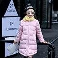 Meninas Casaco de Inverno 2016 Longa Grossas Crianças Quentes Crianças Meninas Pato Down Jacket Parkas Casacos para As Meninas 5 6 ~ 10 Anos de Idade