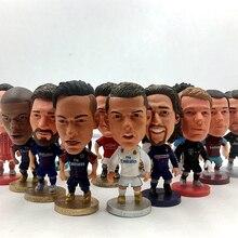 Soccerwe Football Star Dolls JUV 7 Cristiano Ronaldo 2019 Season Figurine for Souvenir Gift White Bl