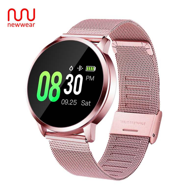Newwear Q8 Plus Smart Watch Bracelet CNC Version Waterproof Heart Rate Blood Pressure Sleep Multi Sports Fitness Smartwatch|Smart Watches| |  - title=
