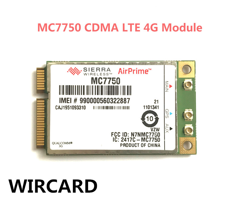 Sierra MC7750 CDMA 3G LTE 4G Module 4G Card For laptop 4g module 4g network card lte module card full cnc js9331 development board supporting