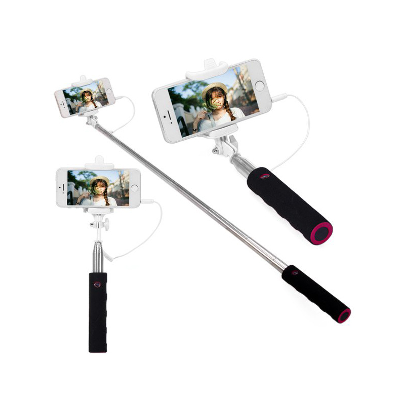 buy jack cable selfie stick connect rc selfie stretch monopod camera. Black Bedroom Furniture Sets. Home Design Ideas