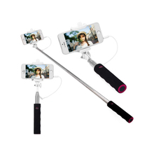 3.5mm Jack Cable Selfie Stick Connect RC Selfie Stretch Monopod Camera Shutter with Adjustable Phone Holder