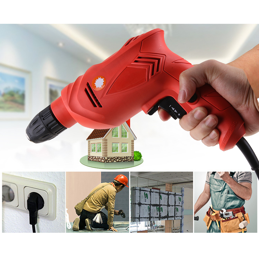 Multi-function Electro Tools Electric Drill 220V Power Tools Design Household for Woodworking Metal Hole Tool cukyi household electric multi function cooker 220v stainless steel colorful stew cook steam machine 5 in 1