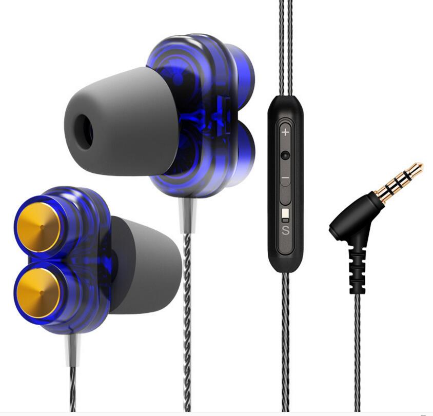 new Armature Dual Driver Earphone Detachable Cable In Ear Audio Monitors Noise Isolating Music Sports Earbuds