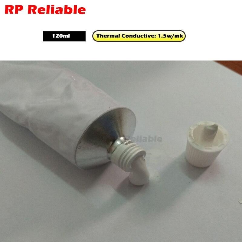 5x120 ml colle thermique pour lumière LED, tampons thermiques en métal, panneau de contrôle de moteur, radiateur, conductivité thermique 1.5 W