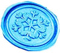 Vintage Snowflake Flower Custom Picture Logo Wedding Invitation Wax Seal Sealing Stamp Sticks Spoon Gift Box