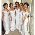 Envío Gratis 2016 Largo Atractivo de Encaje de Damas de Honor Vestidos Sirena Formales Vestidos de Novia Partido Vestidos de Dama de Honor del Hombro