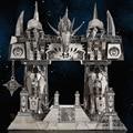 Horde and Alliance Door of darkness Gul'dan 3D Metal assembling model DIY Puzzle The desktop decoration gift to children