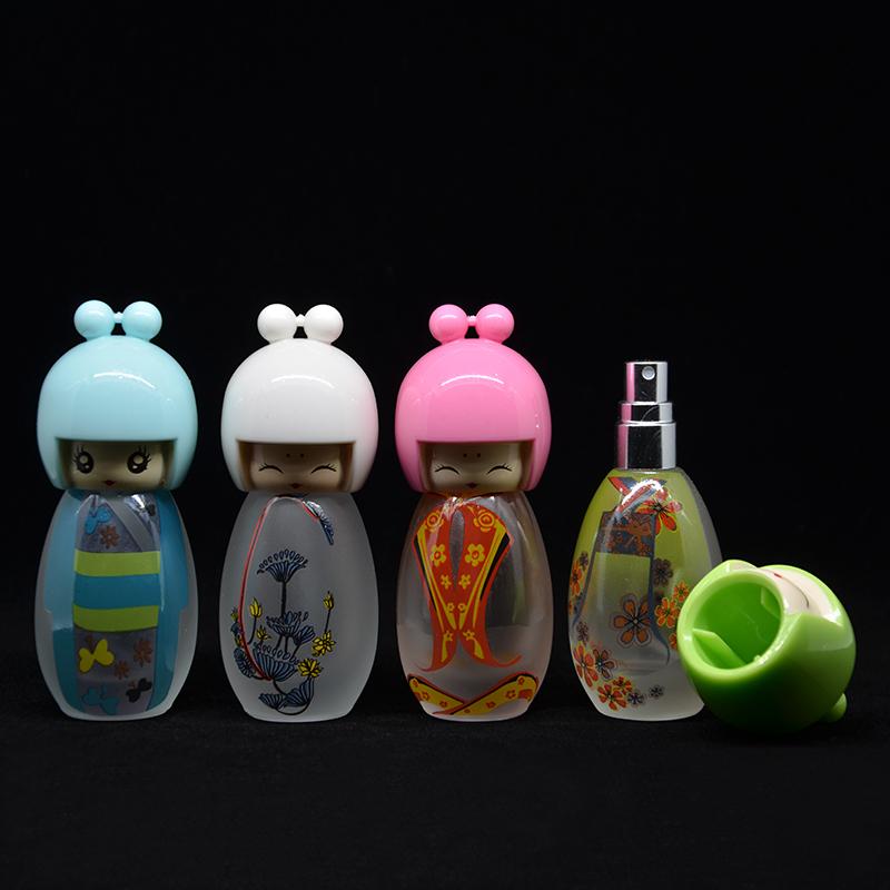 Hight Qualidade Meninas 1 Peças 20 ML Arte Encantadora Meninas Bonitos Frascos de Spray de Viagem Recarregável Perfume Atomizador Frasco Cosmético