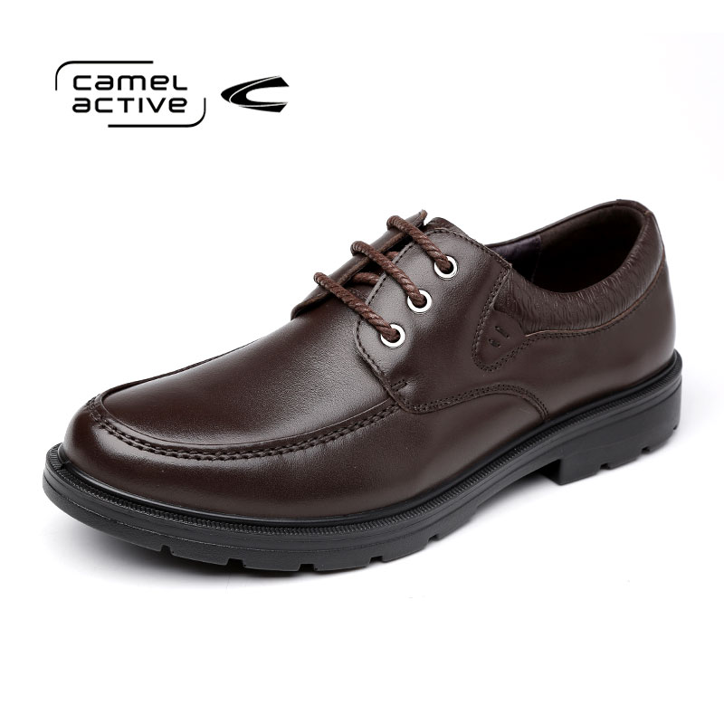 Camel Active Men Shoes Leather Genuine Italian Designer Pointed Toe Dress Shoes Classic Formal Oxford Shoes For Male Footwear men shoes genuine leather italian designer fashion dress shoes classic formal brogue shoes for male footwear wedding business