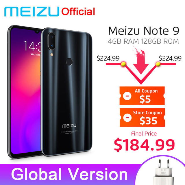 In Stock Global Version Meizu Note 9 4GB 128GB Smartphone Snapdragon 675 Octa Core Note9 6.2'' 48MP Dual Camera AI Front 20MP