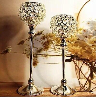 2 Sztukpartia Kryształu Diamentu Pulpit świeczniklatarnia
