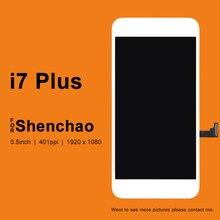 5 шт. для Apple iPhone 7 Plus ЖК дисплей для ShenChao качество 5,5 дюймов ЖК Замена с сенсорным экраном дигитайзер сборка для 7 Plus