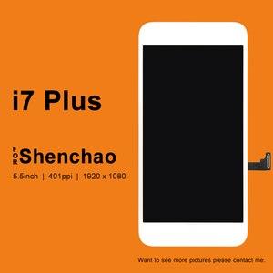 Image 1 - 5 PCS Für iPhone 7 Plus LCD Display Für ShenChao Qualität 5,5 Inch LCD Ersatz Mit Touch Screen Digitizer Montage für 7 Plus