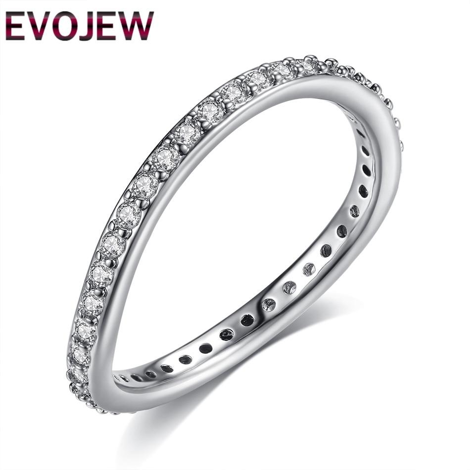 EVOJEW Unique Design Silver Color Engagement Rings For ...