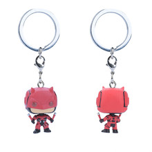 Car Jewelry Keychain Man Wei Movie Iron Shadow Captain Keyring Auto Parts