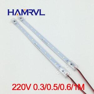 Image 2 - 10 pièces ca 220v LED bande rigide sans conducteur pour T5 T8 Tube, 5w 6w 8w 10w SMD 5730 2835 led pcb barre lumineuse pas besoin de puissance blanc