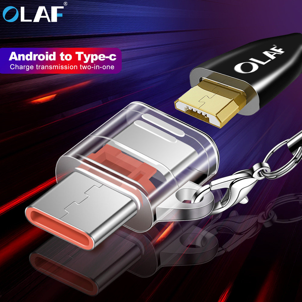 OLAF USB Adapter Micro USB To Type C Adapter OTG Type-C Converter For Macbook One Plus 5 USB Type-C Adapter For Huawei Xiaomi 6