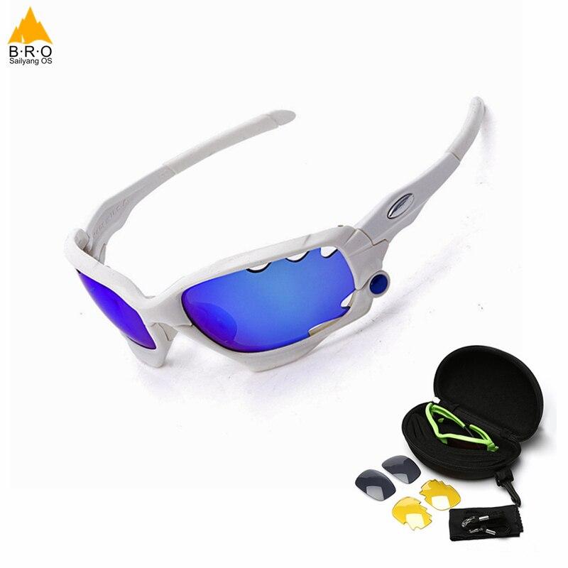 2018 Top Quality Man/Women Polarized Cycling Sport Sunglasses MTB Bike Outdoor Eyewear Racing Bicycle Bike Goggle Glasses 3 Lens round lens flat top sunglasses