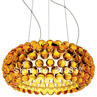 NEW Modern 50cm Foscarini Caboche Ball Gold/Yellow Lamp Glass Crystal Ceiling Light Lighting EMS free shipping