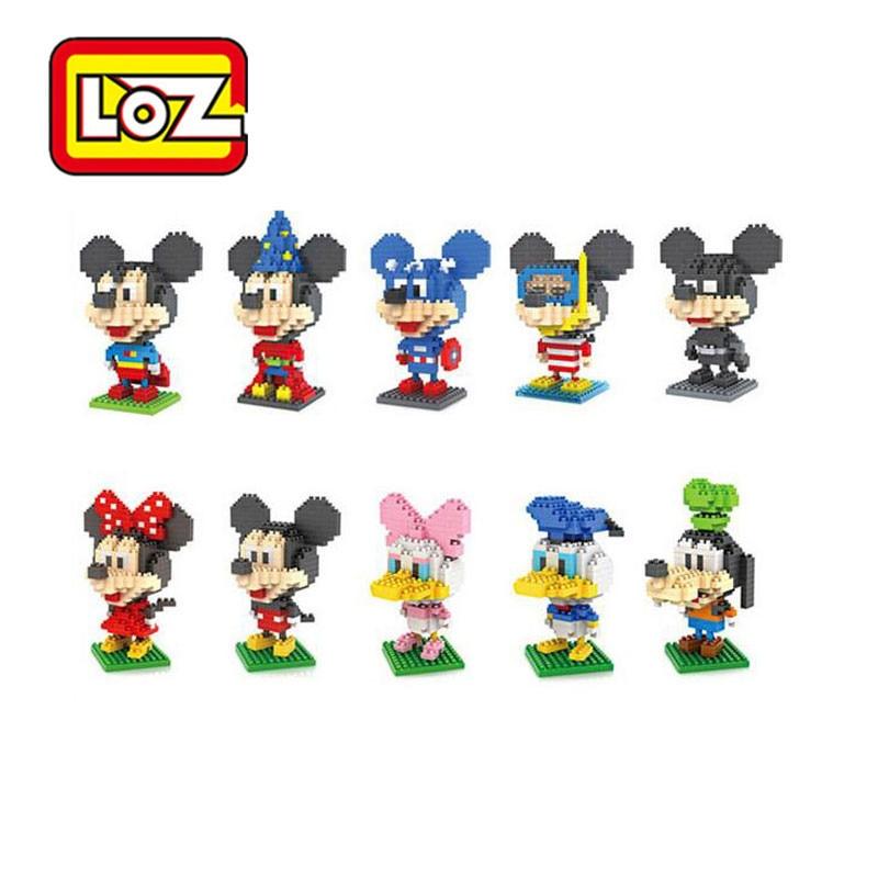 LOZ Blocks Mus Duck Mini Anime Figur Diamant Byggblock Leksaker Jul Födelsedagspresent Brinquedos för barn 9413