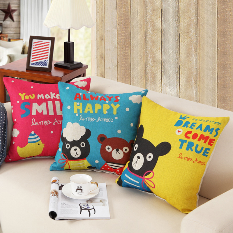 Children Girl Student Christmas New Year Gift Cute Cartoon Cushion Include Filler Core Beds Sofa Decor Car Cair Seat Back Pillow