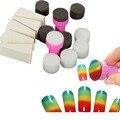 Uñas Esponja + Stamper Manicura Belleza Herramienta Nail Art Sello de Imagen de Degradado de Color de Uñas Plantilla de Transferencia Maquillaje Venta Caliente