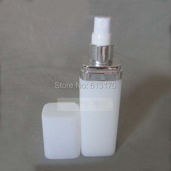 <font><b>120ml</b></font> Empty <font><b>Spray</b></font> <font><b>Bottle</b></font> Square White Perfume <font><b>Bottle</b></font> Sprayer Pump PET atomizer cosmetic packing container free shipping. image