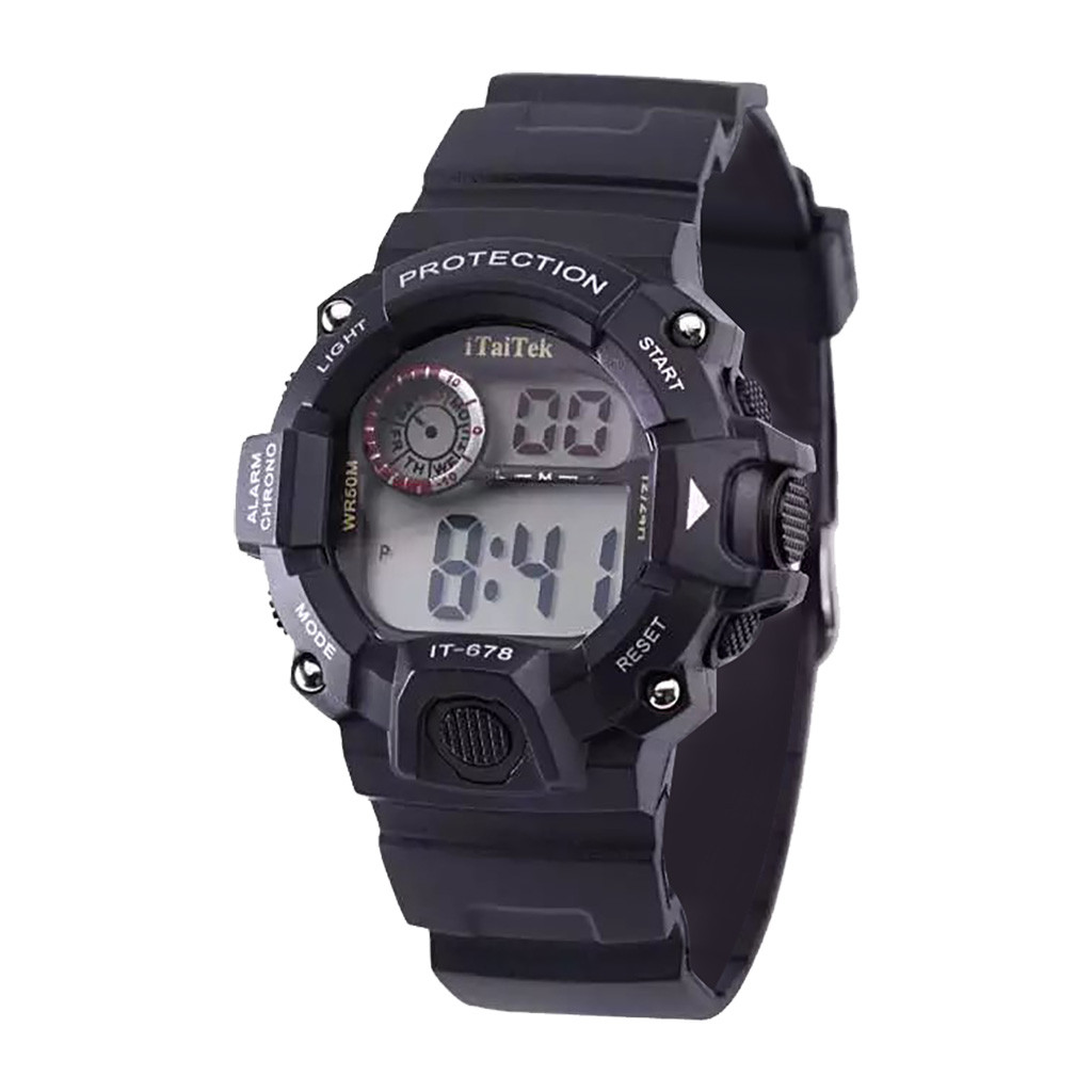Itaitek Fashion Sports Children Digital Watch Multi Function Luminous Waterproof Plastic Kid Students Clock Electronic Watches