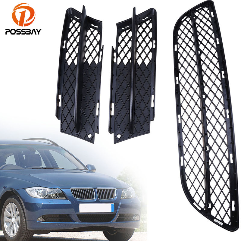 Areyourshop For 2005-2007 A6 C6 Front Lower Bumper Grille Fog Cover Black left /& Right