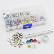 hot deal buy 120 sets and tools package .paint color eyelets. eyelets rivets. corn. color buttonholes. 5mm multicolor corns buckle. eyelets.